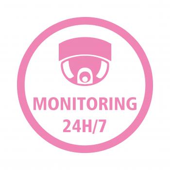 PIKTOGRAM MONITORING 24H/7 folia różowa