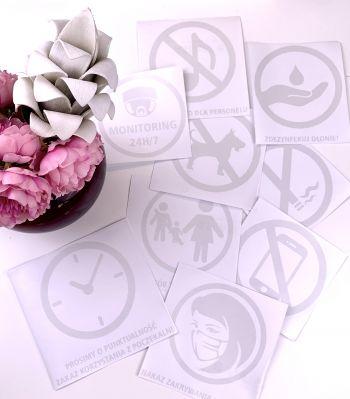 PIKTOGRAM NAKAZ ZAKRYWANIA UST I NOSA folia różowa