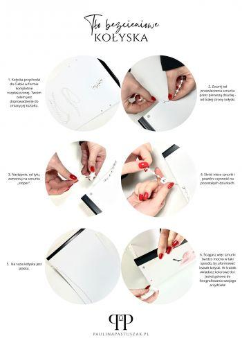 Kołyska bezcieniowa - tło do fotografii paznokci  + zestaw 10 teł I'M SO ELEGANT!