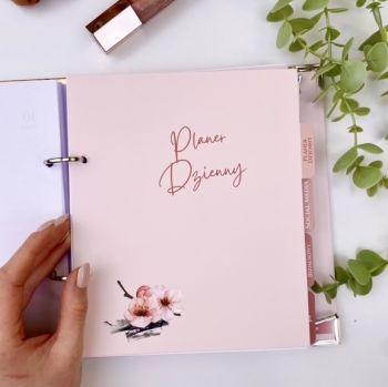 Planer dzienny - Uzupełnienie (kwartał). Beauty organizer.